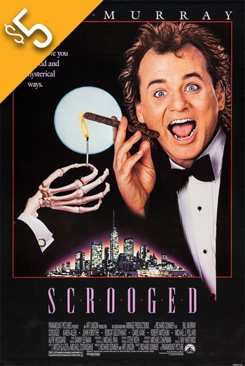 Scrooged (1988) movie poster