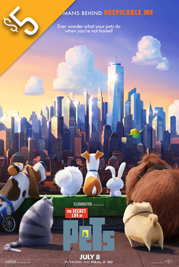 Secret Life of Pets, The - in theatres 07/08/2016