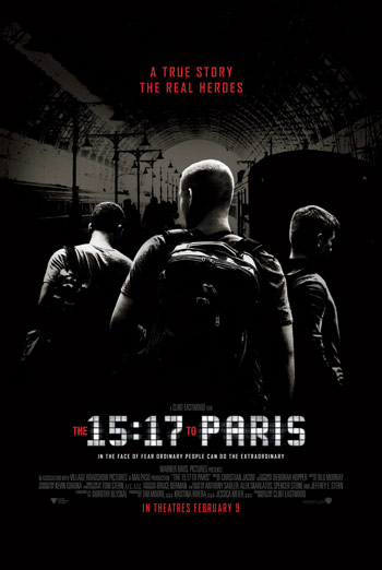 15:17 to Paris, The movie poster