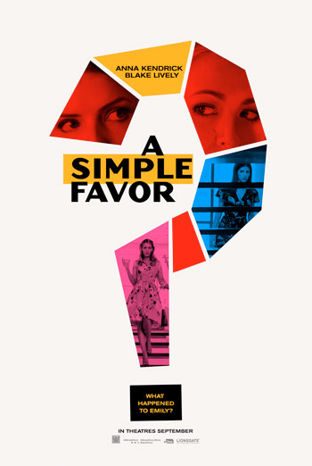 Simple Favor, A movie poster