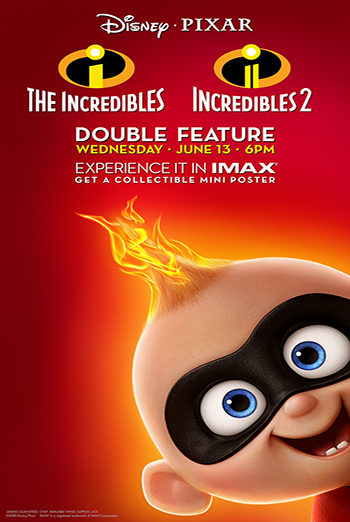 Incredibles Double Feature In IMAX, The movie poster