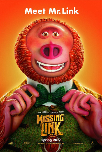 Missing Link - in theatres 04/12/2019