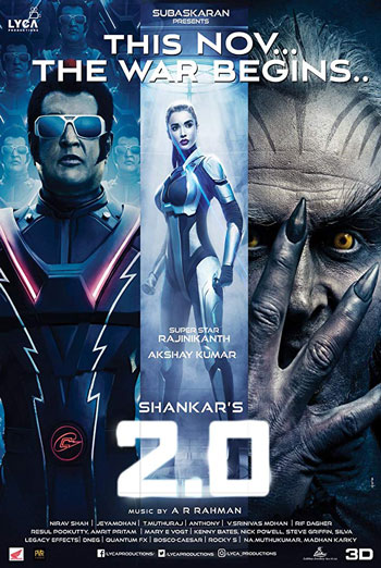 2.0 (Hindi W/E.S.T.)(3D) movie poster