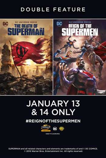Death of Superman/Reign of Supermen Double Feature movie poster