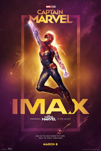 Captain Marvel (IMAX) - in theatres 03/08/2019