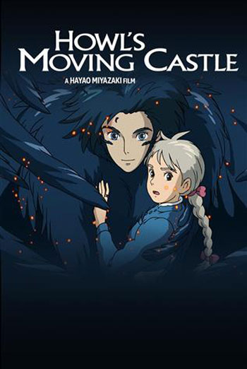 Howl's Moving Castle (Japanese w/e.s.t)-Ghibli movie poster