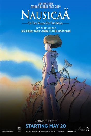 Nausicaa of the Valley of the Wind-Ghibli movie poster