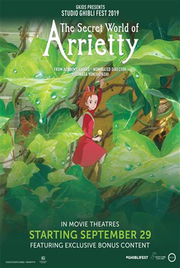 Secret World Of Arrietty-Ghibli movie poster