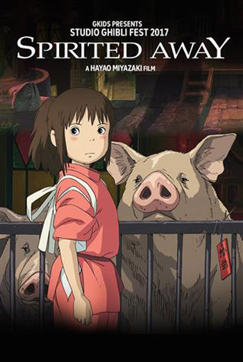 Spirited Away (Japanese w/e.s.t)-Ghibli movie poster