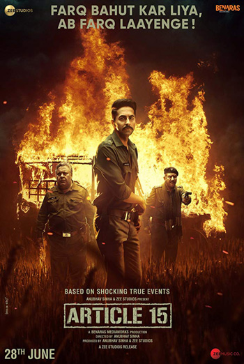 Article 15 (Hindi) movie poster