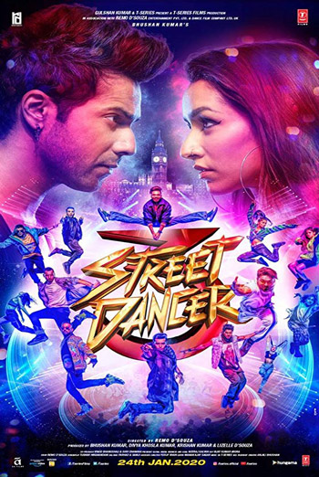 Street Dancer 3 (Hindi W/E.S. T.) movie poster