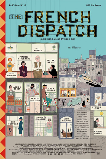 French Dispatch, The movie poster