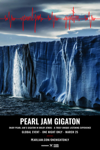 Pearl Jam's Gigaton in Dolby Atmos movie poster