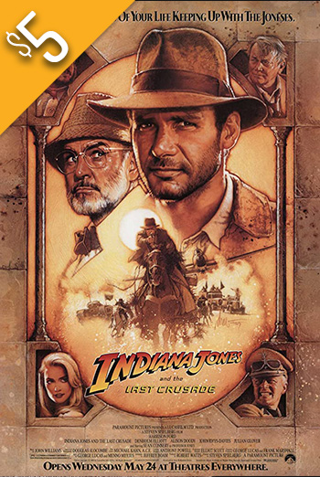 Indiana Jones & The Last Crusade movie poster