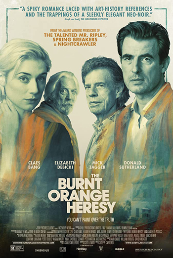 Burnt Orange Heresy, The movie poster
